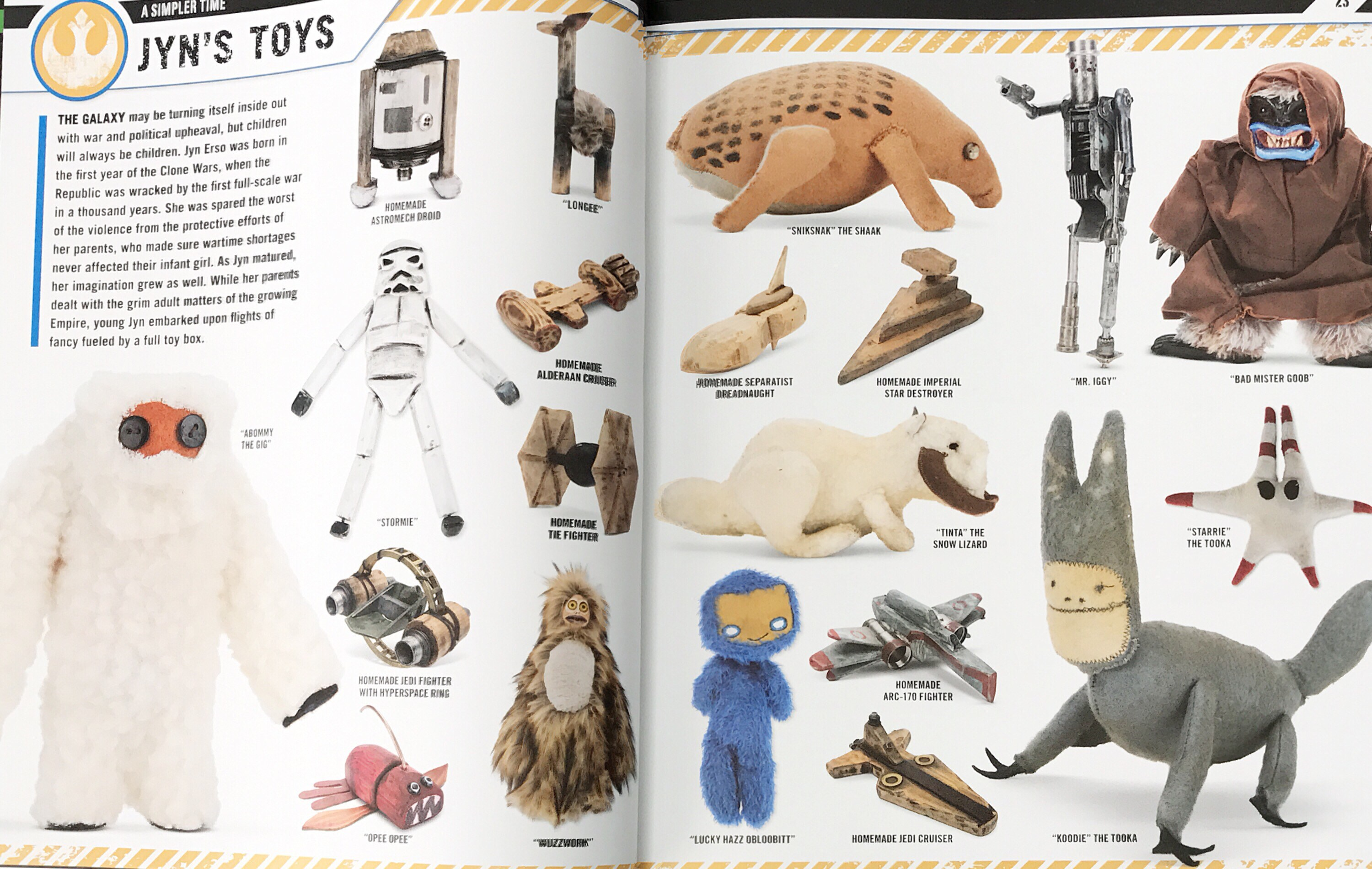 Juguetes de Jyn en «Star Wars Rogue One: The Ultimate Visual Guide»