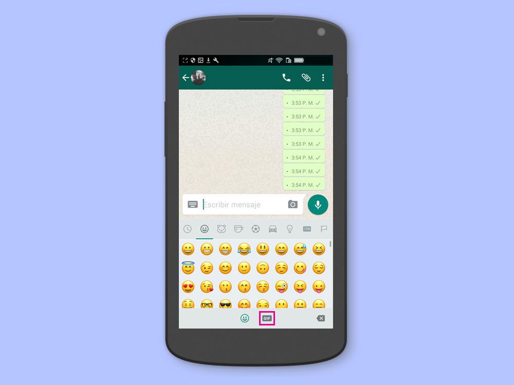 [TIP] Cómo usar el nuevo buscador de GIFs en WhatsApp para Android - Paso 2