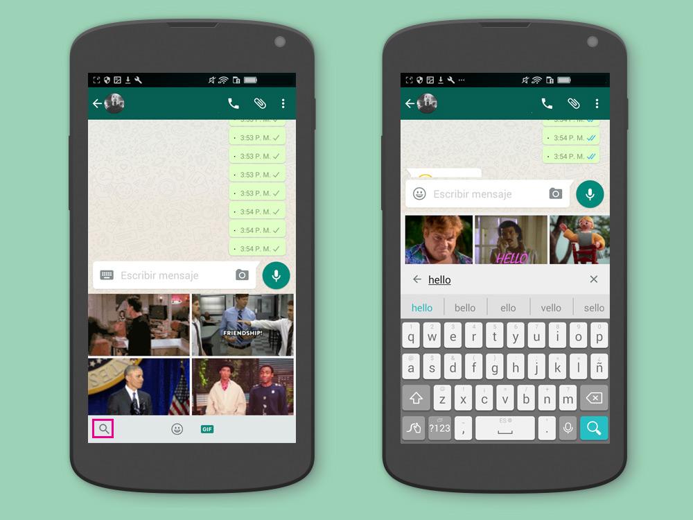 [TIP] Cómo usar el nuevo buscador de GIFs en WhatsApp para Android - Paso 3