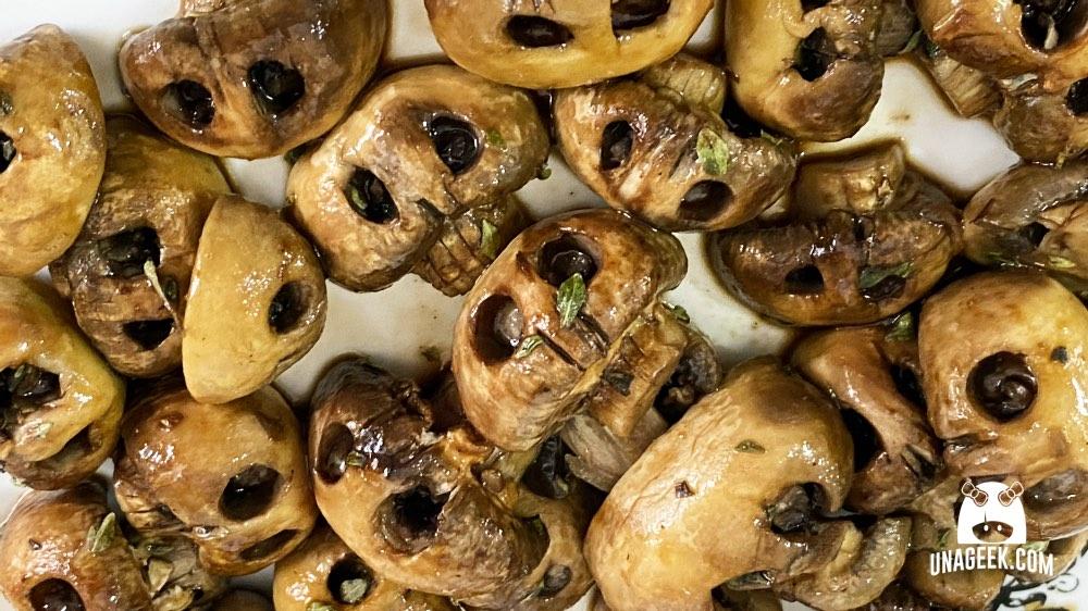 Receta: Calaveras de champiñones | UnaGeek